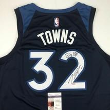 Autographed/Signed KARL-ANTHONY TOWNS Big KAT Minnesota Blue Jersey JSA ... - $199.99