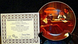 """1983 """"Father's Help"""" by Norman Rockwell Plate with Box ( Knowles ) AA20-CP2189 V image 2"""