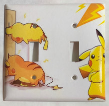 Pokemon Pikachu Battery Wall Charge Light Switch Outlet Cover Plate Home Decor image 3