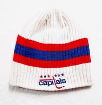 WASHINGTON CAPITALS KNIT BEANIE HAT SKI CAP TOQUE NHL REVERSIBLE CUFFLES... - $12.49