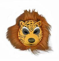 PANDA SUPERSTORE Funny Brown Leopard Mask Pretend Play Plastic Halloween Party N