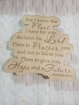 KJV Scripture Print Sign Wood Laser Inscribed - $18.50