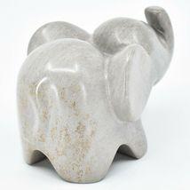 Crafts Caravan Hand Carved Natural Dove Gray Soapstone Cherub Elephant Figure image 4