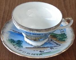 Lovely Vintage Big Bear Lake Souvenir Teacup and Saucer Set- VGC - EFCCO... - $19.79