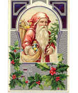 Old World Santa Claus Vintage Post Card - $15.00