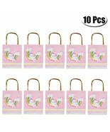 Pack of 10 Unicorn Rainbow Party Favor Gift Bags with Handles, Kids Birt... - $19.59