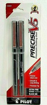 Pilot Precise V5 Rolling Ball Extra Fine Point Pens, Black Ink 2 Pens - $3.06