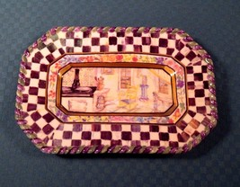 "Mackenzie Childs MACLACHLAN Canape Plate 1990 First Edition 8"" x 5.5""- 3... - $113.85"
