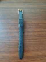 vintage Hifi 13MM watch strap, black strap, gold buckle. Made in France - $14.85