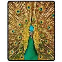 "NEW Peacock Head  Photo Custom Fleece Blanket 50""X60"" (Medium) - $45.00"