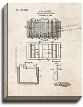 Electric Storage Battery Patent Print Old Look on Canvas - $39.95+