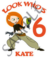 Personalized Kim Possible Birthday T-Shirt Add Name - $14.99