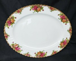 """Serving  Platter - Royal Albert Old Country Roses - Oval 15"""" x 12"""" X 1-1/4"""" - $64.35"""