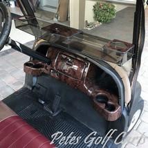 Club Car Precedent Golf Cart Dash Cover in Wood Grain w/ Locking Glove B... - $157.28