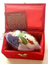 Snowman Long Christmas Ornament Ball Hand Painted Li Bien Holiday Gift E... - $17.30