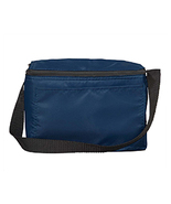 """NWOT Liberty Bags 1691 Navy Blue 6 pack insulated cooler 8"""" x 6 inches x... - $2.00"""
