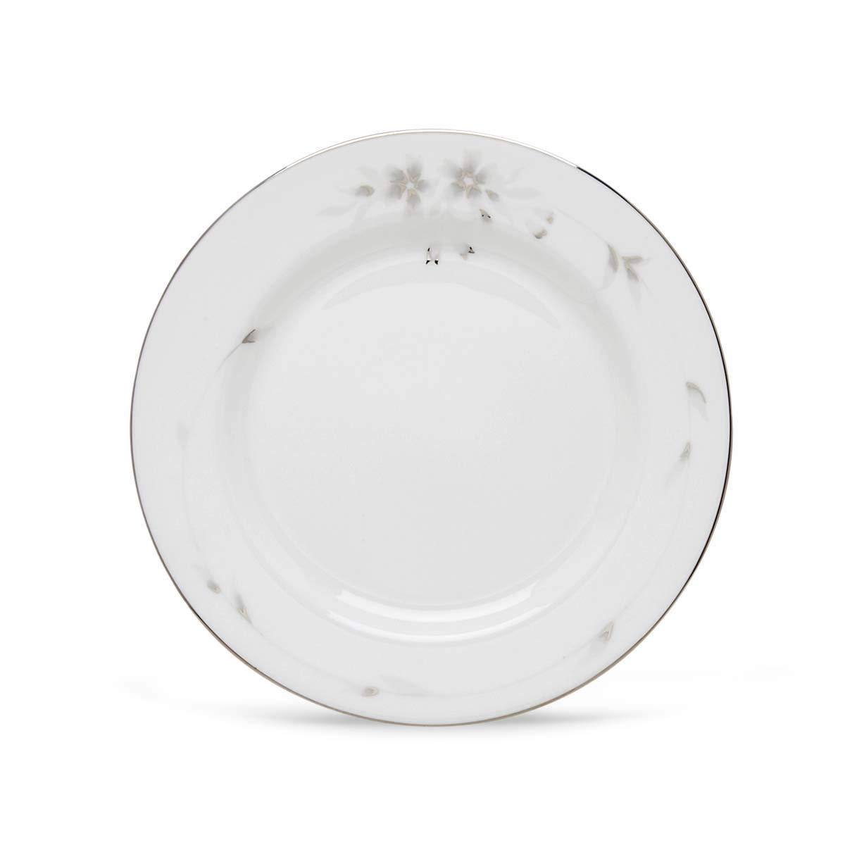 "LENOX ""SHEER BLISS"" PLATINUM SET/2 DINNER PLATES FINE BONE CHINA MADE IN USA NEW"