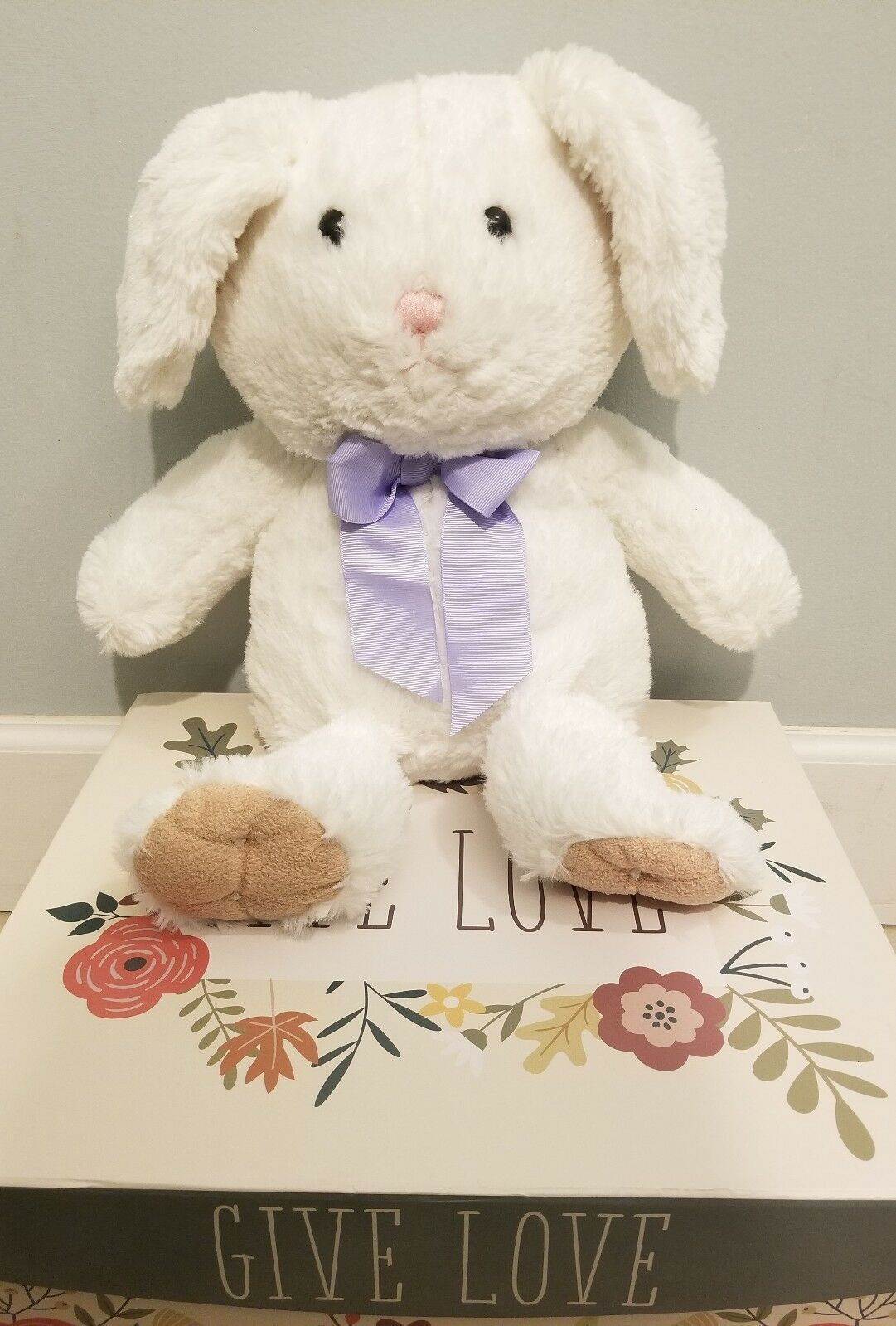 Primary image for ANIMAL ADVENTURE BUNNY RABBIT STUFFED PLUSH SOFT TOY EASTER PURPLE BOW 2014 KIDS