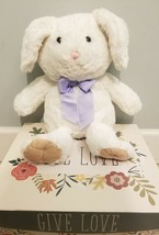 Animal Adventure Bunny Rabbit Stuffed Plush Soft Toy Easter Purple Bow 2014 Kids - $25.00