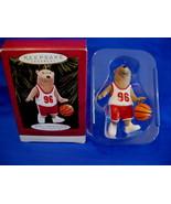 Hallmark Christmas Ornament Bounce Pass Basketball Bear 1996 - $7.99