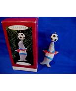 Hallmark Christmas Ornament Soccer Seal Perfect Balance 1995 - $5.99