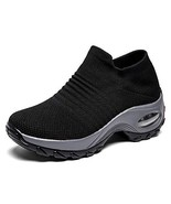 UBHOME Slip On Walking Shoes Breathable Women Comfort Wedge Tennis Loafe... - $29.59