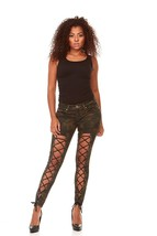 Lace Up Camouflage  or Black Skinny Jeans  Butt Lift  Slim Fit Stretchy... - $12.27+
