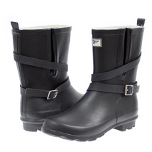 Women's Black Rubber Rain Boots - £22.90 GBP