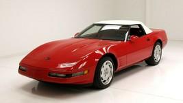 1991 Corvette red Convertible white top 24 X 36 INCH POSTER, classic - $21.77
