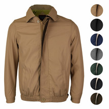 Men's Microfiber Golf Sport Water Resistant Zip Up Windbreaker Jacket BENNY