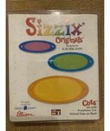SIZZIX RED ORIGINAL BOOKPLATES,OVAL DIE - $9.90