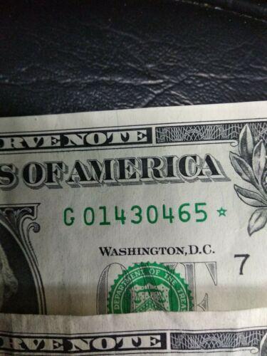 7 One dollar bill star notes , 2017,2013,2006