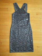 10E/NWT Ann Taylor All Over Sequin Sweater DRESS/GRAY/SIZE SMALL/SLEEVELESS! - $39.55
