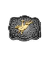 Neu Herren Gürtelschnalle Dunkel Silber Metall Cowboy Western 3D Rodeo B... - $24.74