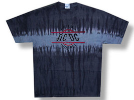 AC/DC-High Voltage Logo-Large Tie Dye Black T-shirt - $16.39