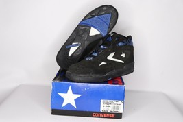 Vintage 90s New Converse Youth 5.5 Power Game II Mid Basketball Shoes Bl... - $45.39
