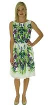 2079 Ralph Lauren Womens Chiffon Floral Print Wear to Work Dress White 1... - €50,47 EUR