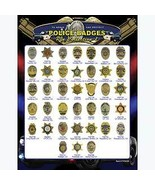 """Police Badge Collection 38PC PIN SET 9""""X13"""" Gift Set  - $99.99"""