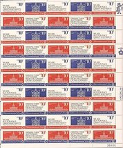 USPS 1974 American Revolution Bicentennial 50 Stamp Sheet Scott 1543-46 - $9.99
