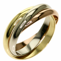 Cartier Trinity Ring US4-4.5 K18 Yellow Gold K18WG K18PG Used Excellent++ - $586.71