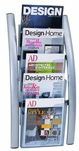 Alba 5 Pocket Wall Literature Rack, Metallic Silver (DDICE5M) - $93.16