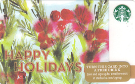 Starbucks 2015 Special Edition Happy Holidays Collectible Gift Card New No Value - $4.99