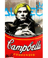 Alec Monopoly Oil Painting on Canvas Graffiti art Andy Warhol Tribute 28... - $14.35+