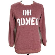 Sol Angeles Girls Sweatshirt 12 Red Oh Romeo 3/4 Sleeve Pullover Distressed - $29.99
