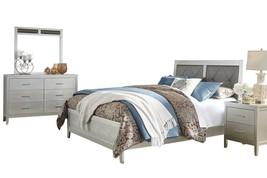 Ashley Olivet 4PC Bedroom Set E King Panel - Silver - $1,650.19