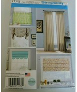 Simplicity Sewing Pattern 1176 Curtains Window Treatment Drapes Home Dec... - $8.99