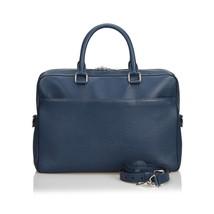 Pre-Loved Louis Vuitton Blue Taiga Porte Documents Briefcase France - $1,441.06