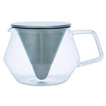 Kinto 600 ml (20 fl. oz) Glass Carat Teapot Infuser - Specialized Lid & ... - $34.64