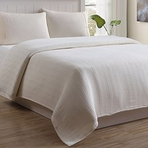 Outlast Cable Weave Luxury Cotton Blanket, Full, Natural