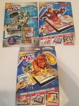 Skylanders & Marvel Avengers Crayola Color Alive & 2.0 Coloring books Lo... - $14.99